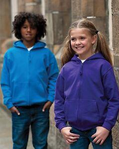 AWDis-Zipped-Hooded-Sweatshirt-JH50J-Boys-Girls-Childrens-Kids-Hoodie-Hoody