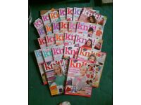 25 ISSUES LET'S KNIT - KNITTING MAGAZINES - JOB LOT