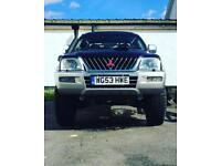 Modified Mitsubishi l200 monster truck for sale or swap