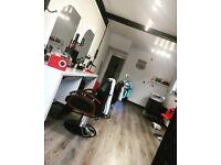 Chair rental for barber/hairdresser in modern retro shop