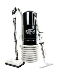 Central Vacuum And Sweep & Groom Kit Black Hybrid With Dustlock Bag And Filter