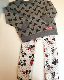 Boys Outfit top leggings Mickey Mouse Disney next