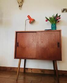 💥💥💥SOLD💥💥💥 Danish sliding door cabinet mid century vintage retro