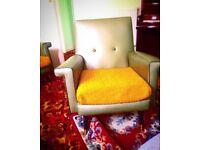 Retro 60's sofa, two arm chairs