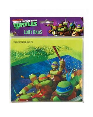 TMNT Teenage Mutant Ninja Turtle Treat Favor Bags Birthday Party 8 Per Package