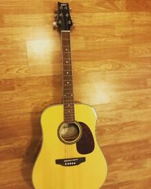 Ashton D25NT Acoustic Guitar (with built in tuner) & Accessories