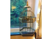 Decorative Gilded Gold Bird Cage