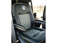 LEATHER SEATCOVERS FOR VOLKSWAGEN TRANSPORTER T3 T4 T5 T6 SHUTTLE ROCK AND ROLL BEDS CUSHIONS
