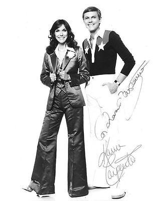 The Carpenters Autograph Signed Photo Preprint Glossy Music Portrait
