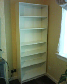 White Ikea Billy bookcase