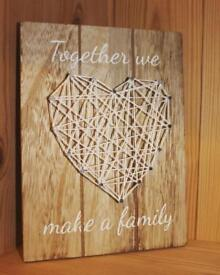 String Art Wooden Plaques.. ♡