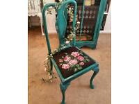 Shabby chic Chair and cabinet