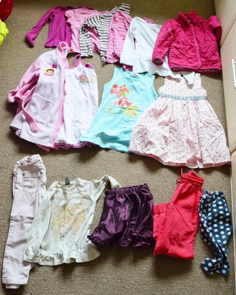 Girl clothes bundle 3-4 years dress, trousers, tops, shirts, nightwear