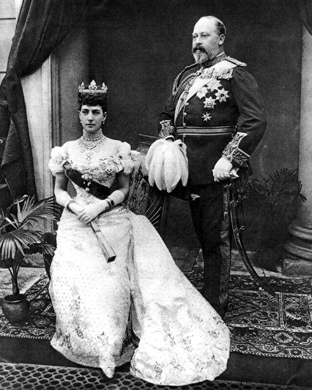 New 8x10 Photo: British Monarchs King Edward VII & Queen Alexandra of Denmark