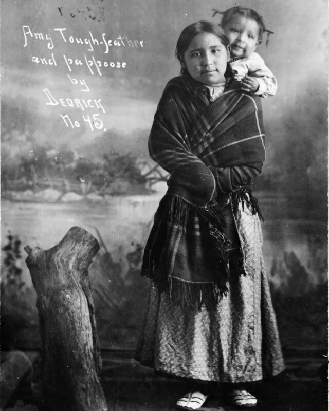 """New 8x10 Native American Indian Photo: """"Amy Tough-Feather"""" with Baby Papoose"""