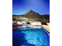 Remote mountain villa holiday spain