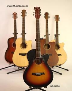 iMusic52 sunburst acoustic guitar with free capo and strap Brand new 39 inch