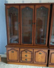Display cabinet with glass doors 3 door and 2 door must be collected by Sunday 29th