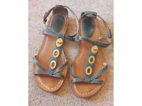 Clarks 'Surf Mark' teal leather sandals in size 5D