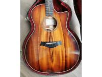 Taylor K24ce Koa electro acoustic guitar - passes as brand new