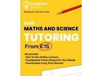 Maths & Science Tutor GCSE from £15 (Biology, Chemistry & Physics GCSE)