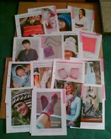 KNITTING PATTERNS (ABOUT 270) - UNUSED - JOB LOT