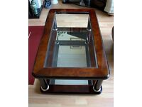 Large Coffee Table for sale, dark italian wood. Like new.