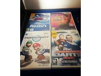 Wii including 2controllers and cases plus games.