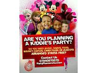 Party Planners Childrens Entertainment Kids Disco DJ Bouncy Castle Mascots