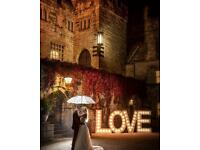LOVE 4ft DISPLAY WEDDINGS /ANNIVERSARY ONLY £110 ALL DAY