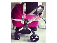 iCandy Peach Fuchsia **ONLY 8 WEEKS OLD, ONLY CARRYCOT USED**