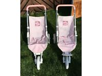 Two 3 wheeler strollers for toddler dolls. Great condution