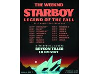 x2 The Weeknd standing tickets at the London O2 Arena