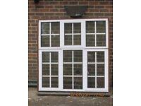 Two aluminium double glazed lockable windows