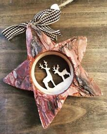 Wooden Christmas Decorations.. ♡