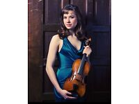 Professional American violinist offers violin lessons, recording sessions, event performances