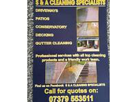 Drive way cleaning pattio conservatories guttering Windows fencing turfing.. full make over gardens