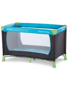 Hauck Dream 'n Play Travel Baby Cot 120 x 60 cm from Birth to 15 kg - NEW