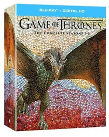 Game of Thrones Series 1 to 6 Blu Ray Box Set. Good as new.