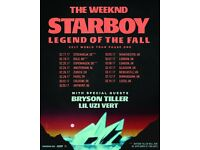 4x The Weeknd standing tickets, O2 Arena London, Wednesday 8th March 2017