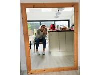 Large wood-framed mirror, 106cm x 136cm (inc frame), £30