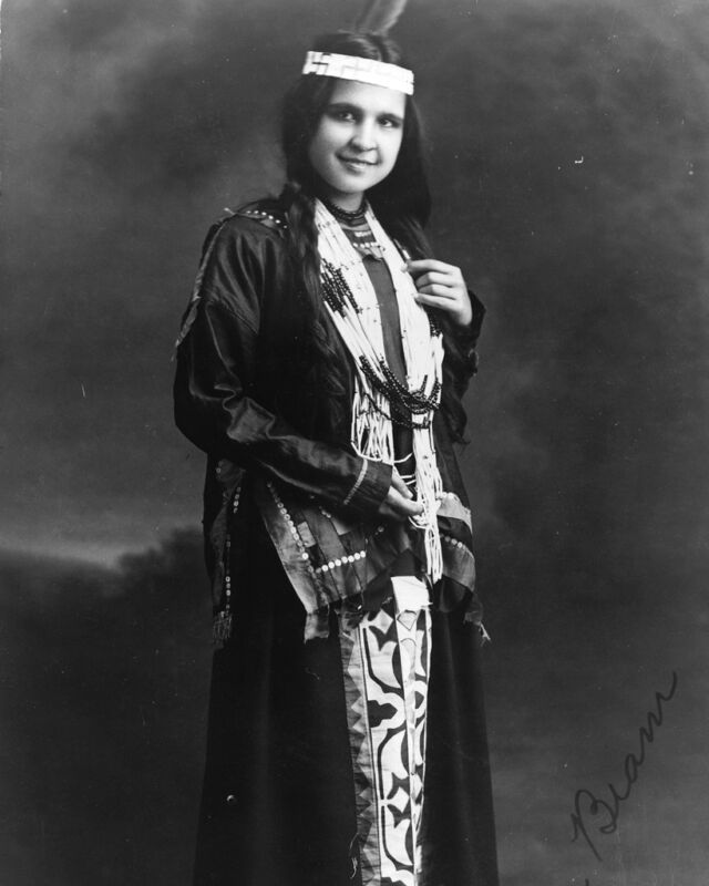 New 11x14 Native American Photo: Moon Beam, North American Indian Woman - 1909