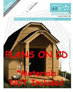 Dog house plans step by step cad drawings how to build a for How to build a house step by step