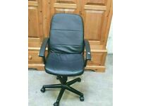 Black Faux Leather Office Chair No250315