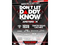 x2 tickets for DON'T LET DADDY KNOW AMSTERDAM Sat 04/03/17