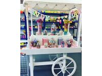 Candy cart for hire with american sweets