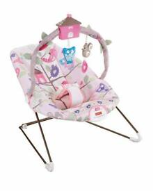 Fisher price tree party time bouncy chair