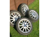 Mk6 Ford Fiesta Alloys Wheels with Tyres