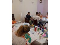 Pop up painting studio for Children's parties..
