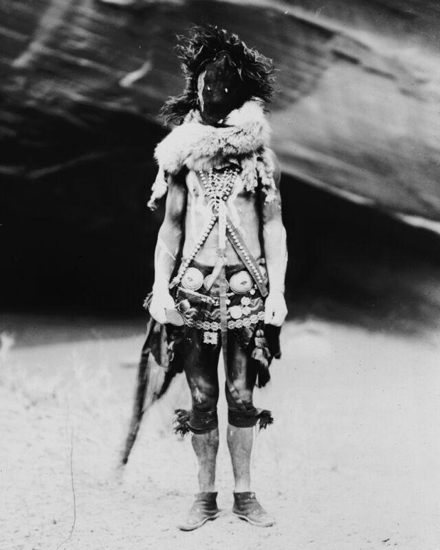 New 8x10 Native American Photo: Nayenezgani, Navaho Indian in Mask and Costume